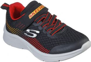 Skechers Kids 97535L BKRD Black Red Microspec Gorza Trainers
